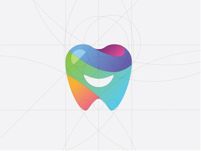 Smalltown Smiles Icon rainbow logo structure shape logo tooth logo logo outline gradient logo dental logo icon design logo design smile tooth marketing icon brand branding illustrator dribbble illustration vector graphic design