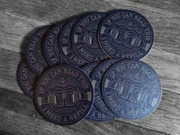 """If You Can Read This, I Need A Refill"" Coasters"
