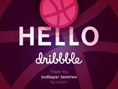 Hello Dribbble! mohammadfazal mdeezyn md identity logo designer graphic  design illustration branding dribbble shot minimal flat design thank you dribbble debut