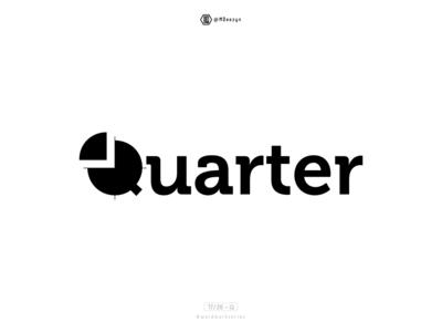 Quarter - Wordmark Series (17/26) quarterly quarter illustration vector type wordmark series wordmark typography lettering symbol minimal mark logo flat identity design branding