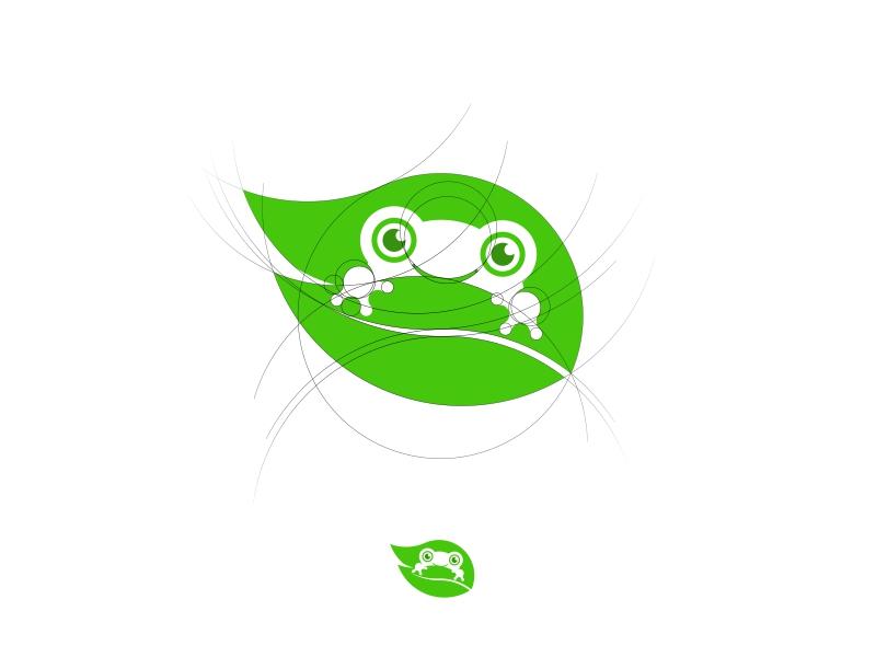 Toad negative space graphic design logo design frog leaf nature toad logomark logo