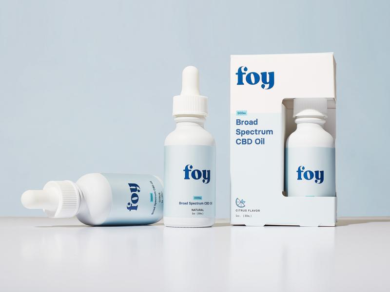Foy Bottles tincture branding logomark identity cbd packaging logotype logo health droplet