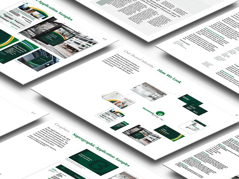 Brand Guidelines grid super graphic guides green technology guidelines identity branding brand