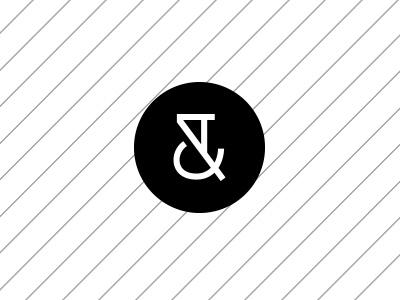 WIP Logomark minimalist monogram identity branding circle ampersand logomark logo