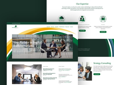 Custom Squarespace Site technology green branding identity responsive website squarespace
