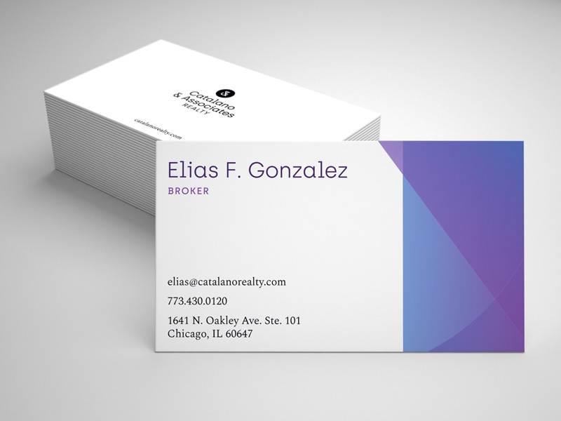 Business Cards icon purple type gradient identity business cards logo