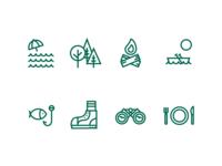 Woodland Resort Icons