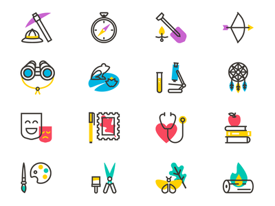 Art, Nature, and Science Icons