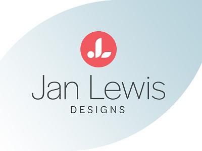 Jan Lewis Designs Logo brush stroke pink circle logo circle brand logomark monogram icon icons branding identity logo