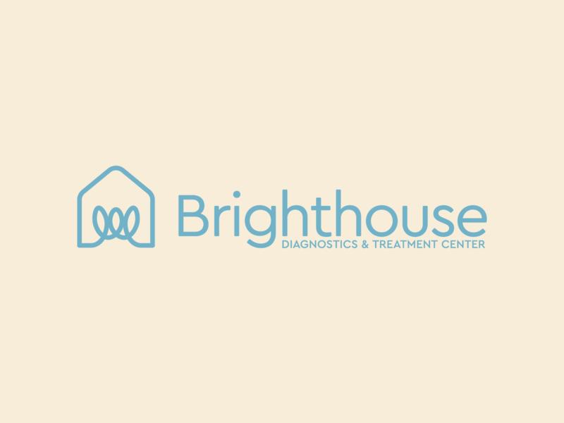 Brighthouse Diagnostics & Treatment Center family branding identity psychology therapy house lightbulb icon logomark logo
