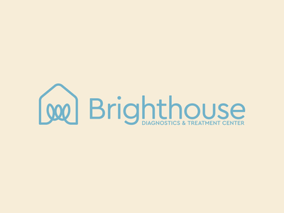 Brighthouse Diagnostics & Treatment Center family branding identity psychology therapy house lightbulb icon logomark logo