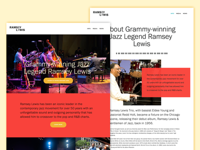 Ramsey Lewis – Website piano brand branding identity logo jazz musician music squarespace website