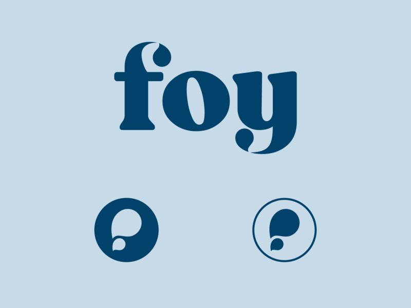 Foy Logo health wellness cbd oil cbd monogram droplet water wordmark logotype logo