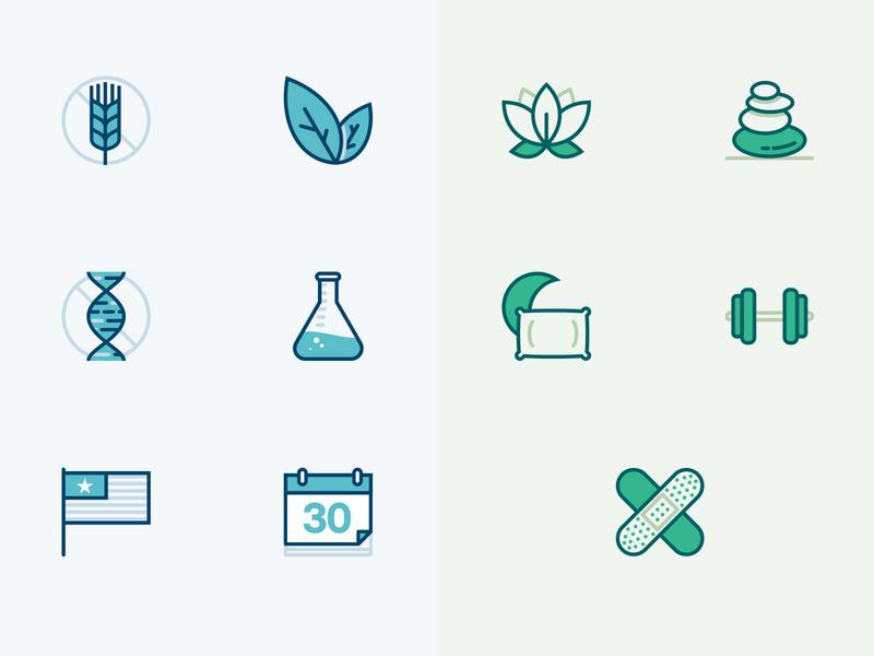 CBD Oil Icons cbd oil icon set icons sleep vegan gluten free nutrition health mindfulness calm cbd