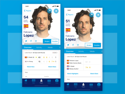 ATP Mobile App : Player Profile (2nd Iteration)