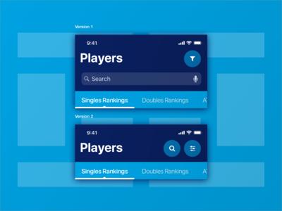 ATP Mobile App : Navigation