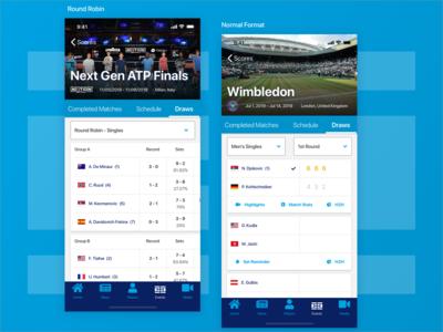 ATP App - Event Draws