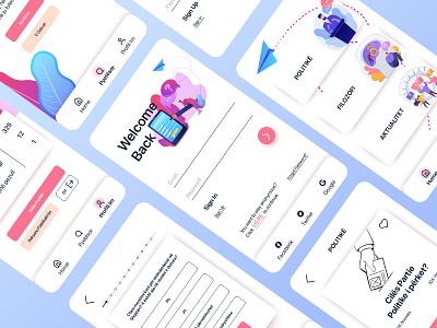 """Polimetri"" Questionnaires App social app social beliefs philosophical political design polymeter minimalism minimalist questionnaire app questionnaire"
