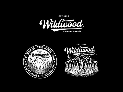 Project Design For Wildwood Calvary Chapel brand identity lettering classic vintage badge graphic design illustration typography logo design branding