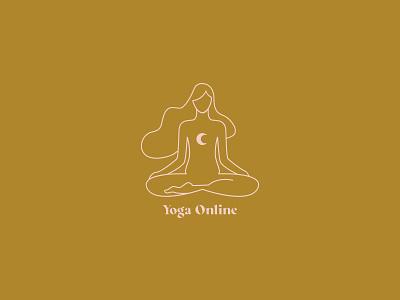 Yoga online illustration branding design illustrator illustration art illustration
