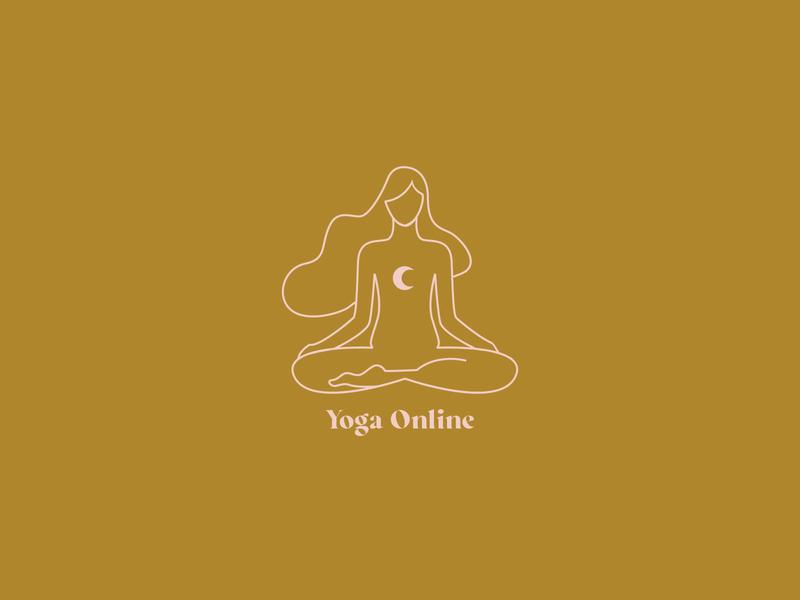 Yoga online illustration