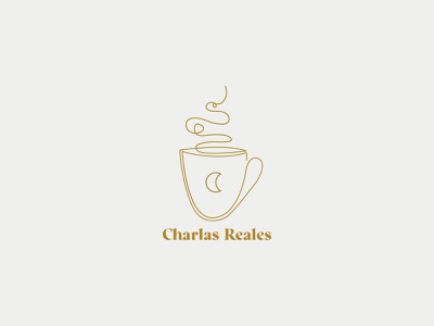 Charlas Reales Illustration coffee cup logo coffee cup design illustrator illustration art illustration
