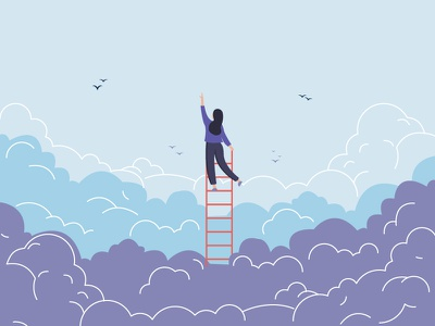 Growth poster growth value poster poster illustrator illustration art illustration agency stairstoheaven stairs clouds sky illustration