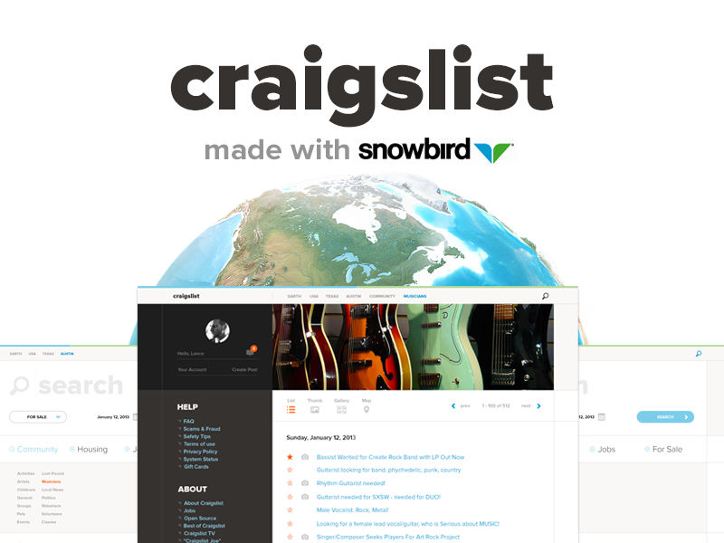 Craigslist Redesigned craiglist clean flat search filter modern ui ux handsome challenge