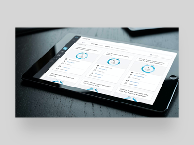 JASK UI security analytics charts icon responsive mobile design app clean ux ui