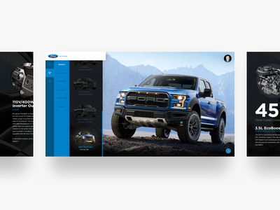 Ford Concept navigation buying shop raptor ford branding clean ux ui