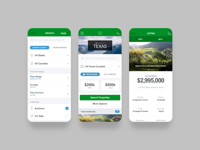 LoA Mobile price selector booking home texas realestate identity web responsive mobile app ux branding clean ui