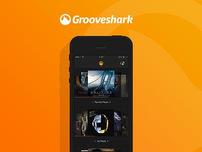 Grooveshark Exercise grooveshark ui ux music player media clean dark ui song volume play redesign