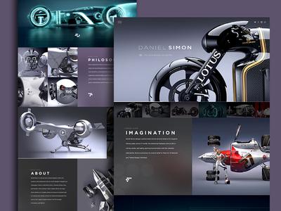 Daniel Simon Website daniel simon web design clean premium grid responsive tron oblivion avengers lotus handsome