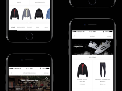 In-Store Shopping App Screens