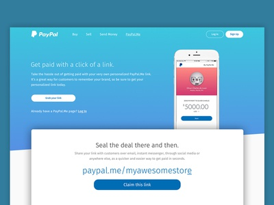 [Daily UI 003] - Paypal.Me Landing Page