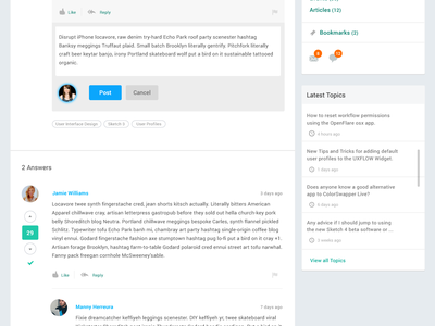 Commenting UI Interaction Demo prototyping interaction design answers comments ui