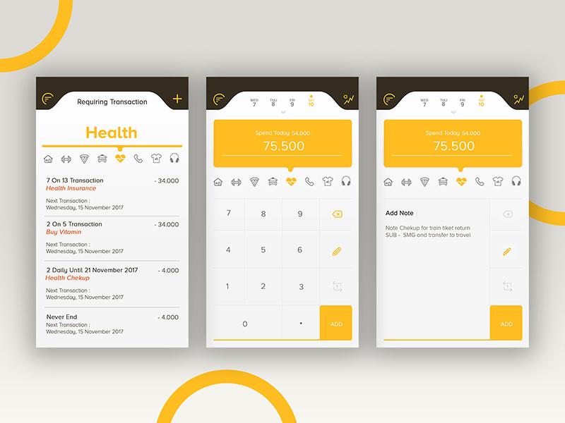 expenses tracker app by dickson leonard dribbble dribbble