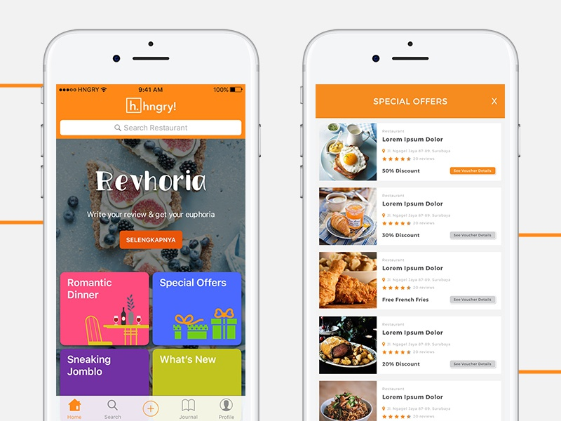 Hngry App Food Restaurant Finder By Dickson Leonard On