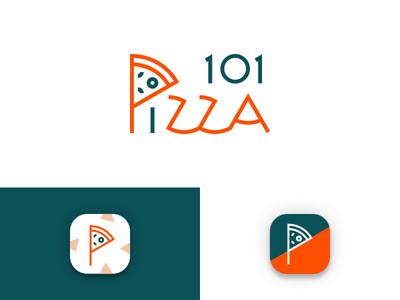 101pizza - Logo/App Icon icon design launcher icon ios recipe pizza logo app icon