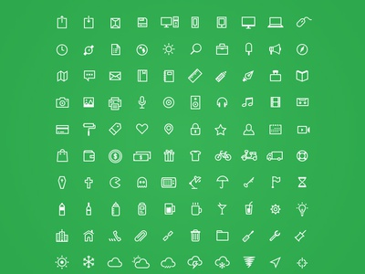 Odincons 1.0 free freebies psd shape vector green design handcraft outline glyph inspiration odincons
