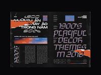 1900 Magazine Layout typography layout magazine