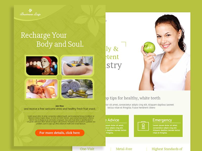 Body Massage   Health Checkup Flyer healthcheckup poster design ui template flyer body massage