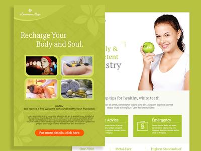 Body Massage   Health Checkup Flyer
