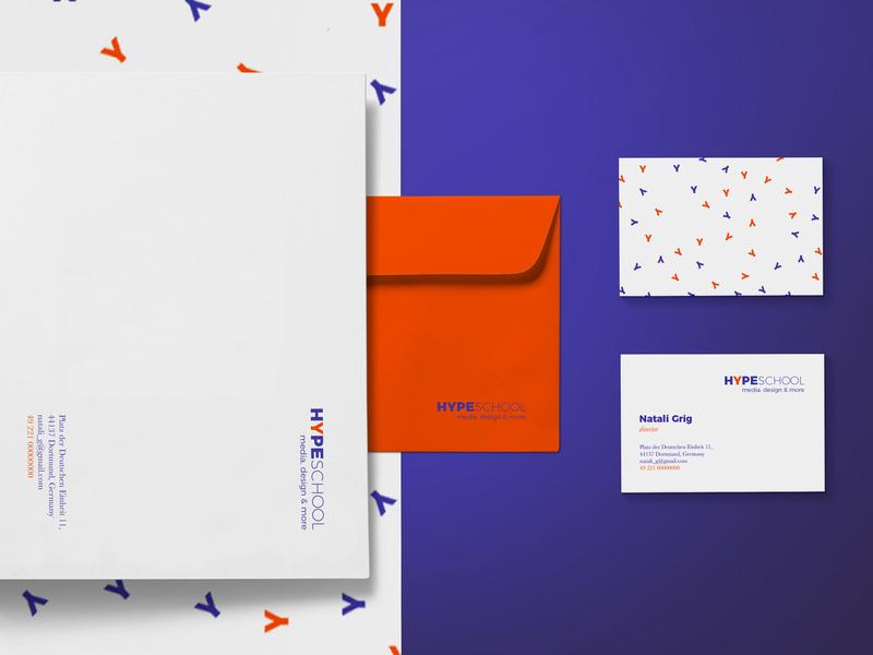 HYPESCHOOL media, design & more design logo brand identity visual identity graphic design branding