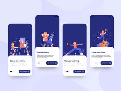 English learning app Onboarding welcome screen walkthrough screen onboarding screen app design english learning onboarding ui app ui onboarding