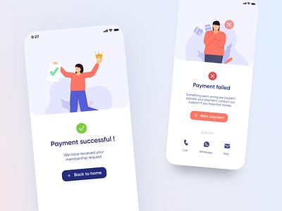 payment status page status illustration payment illustration thankyou page payment ux ui design failed payment payment status success payment