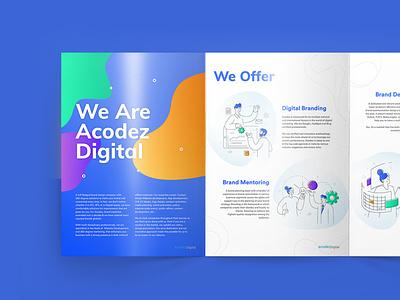 Company Profile digital colorful illustration art color illustrator company profile illustraion