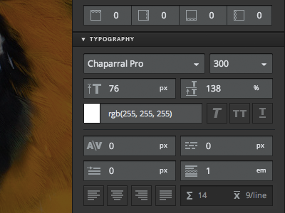 Macaw's Typography Palette typography type palette ui