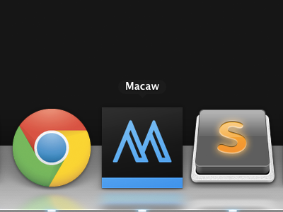 Macaw Icon macaw icon osx black blue m