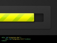 Pure CSS - Animated Striped Loading Bar